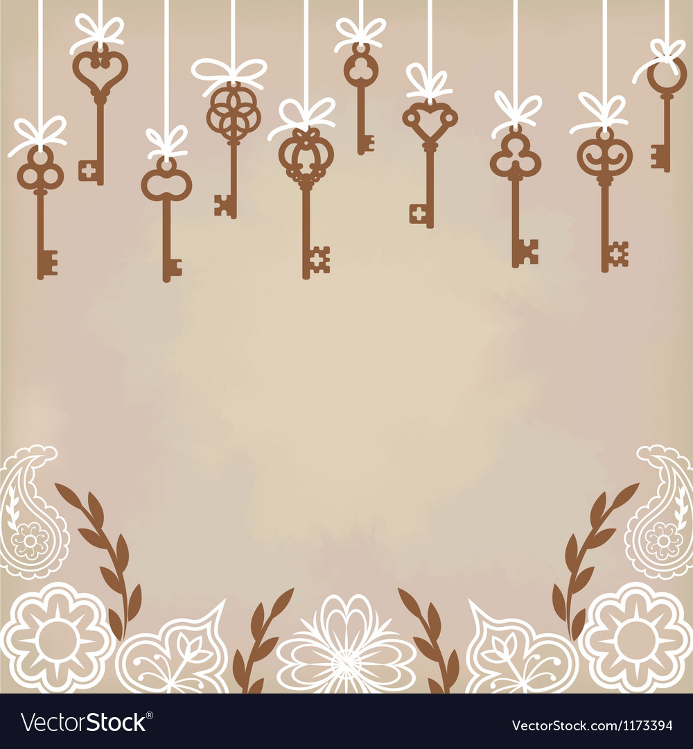 Antique skeleton keys vector image