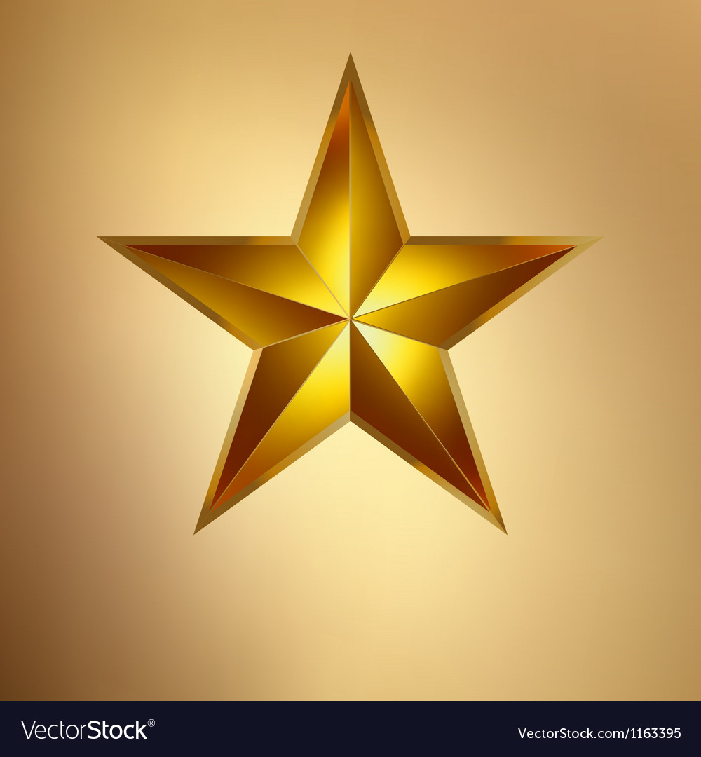 A Gold star on gold EPS 8 vector image