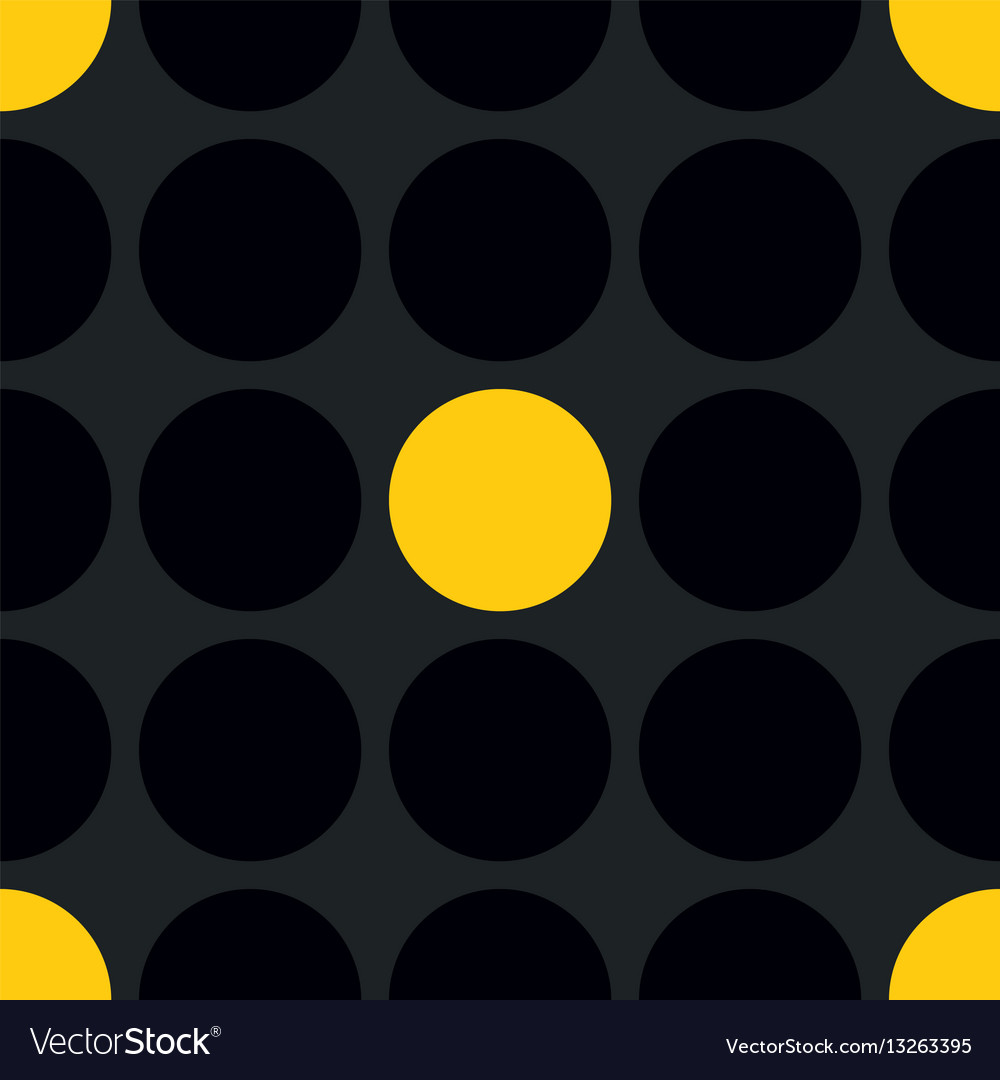 Tile patern with black and yellow polka dot vector image