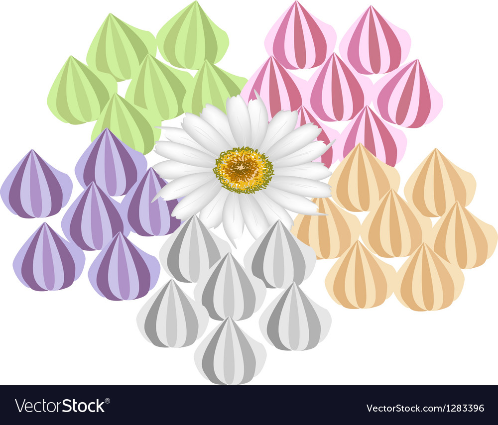 Colorful Thai Handmade Candy on White Background vector image