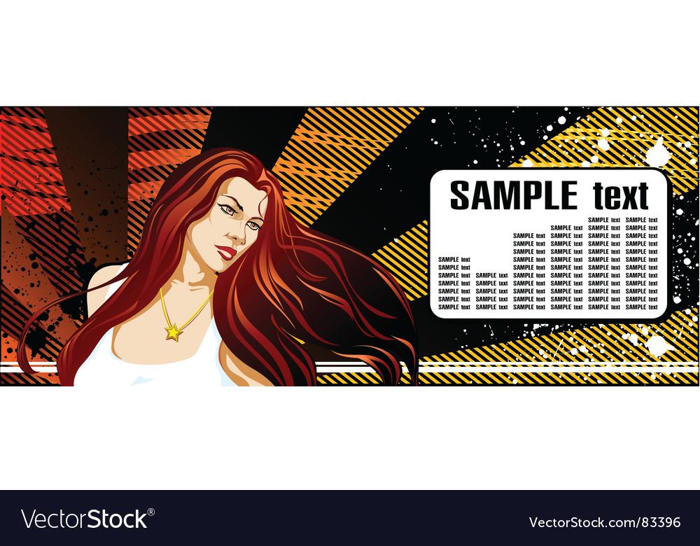 Girl star vector image