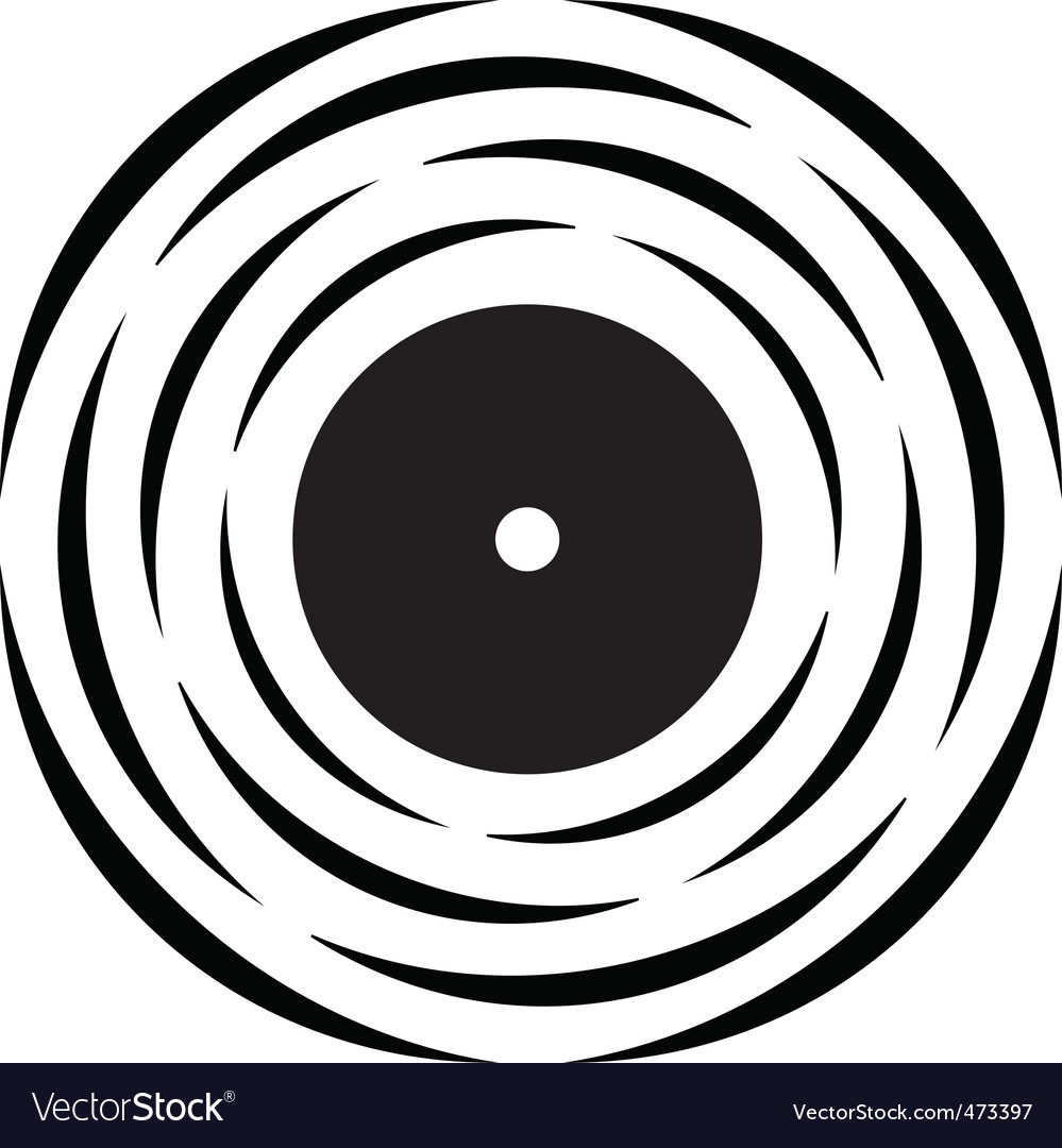 Vinyl record logo Vector Image