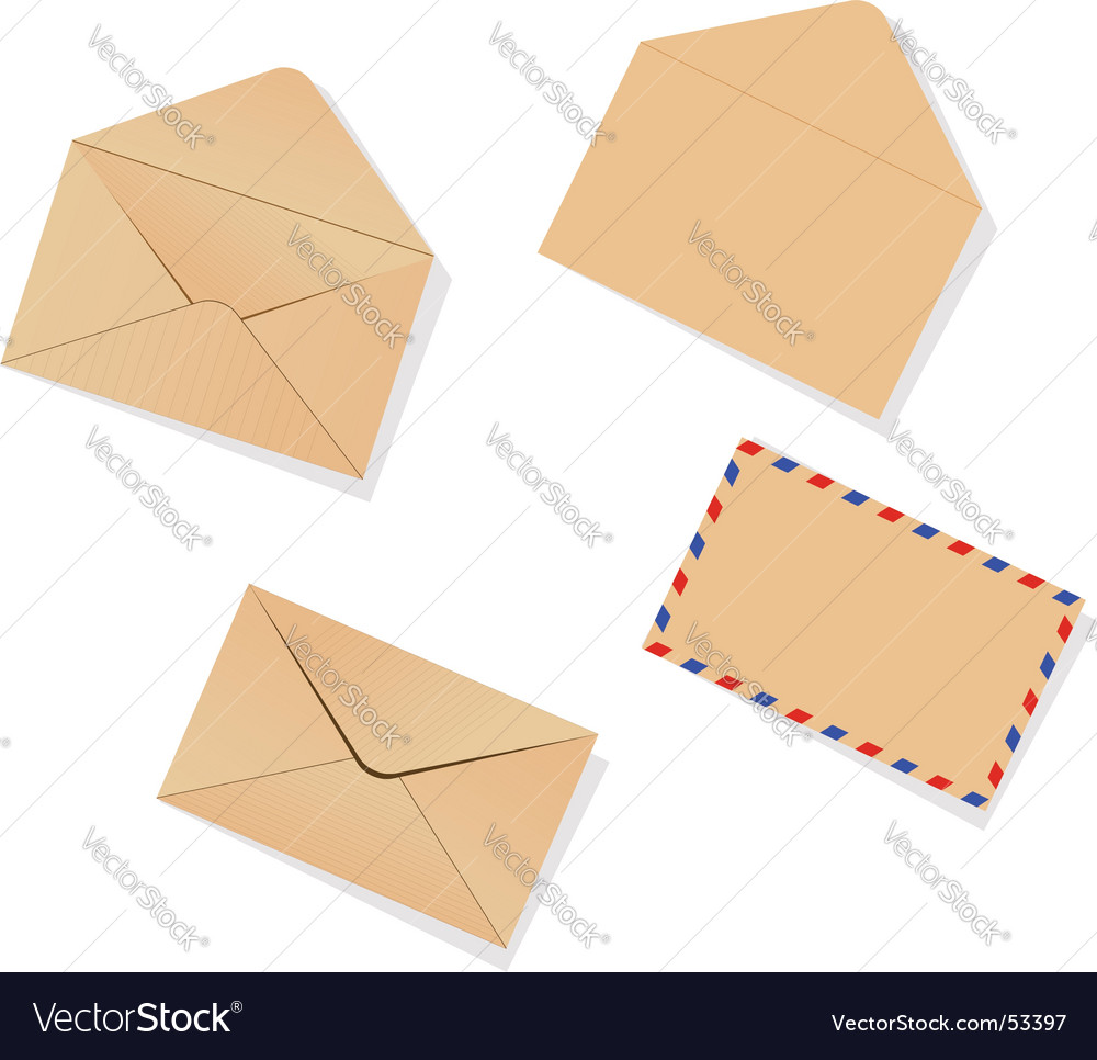 Different envelopes vector image