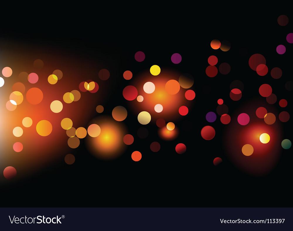 Lights dots vector image