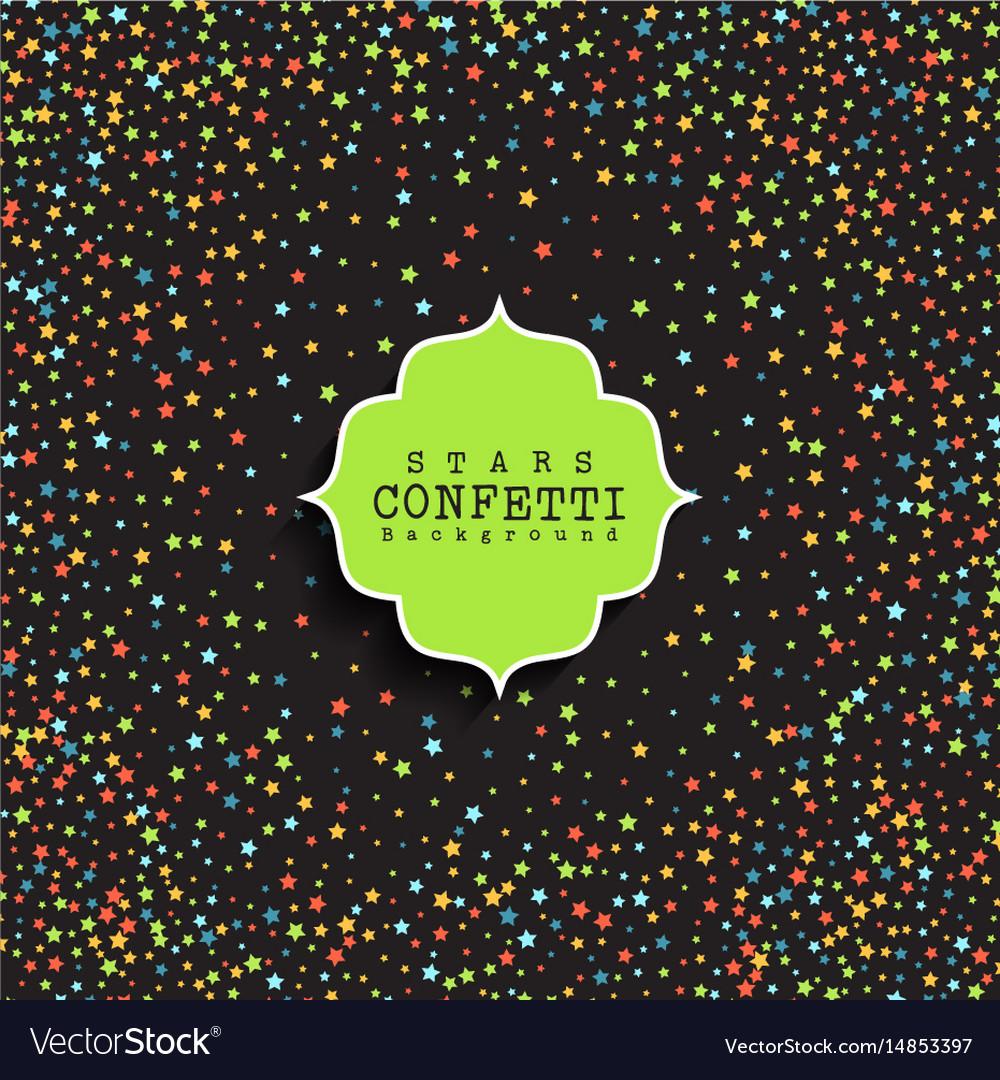 Stars confetti background vector image