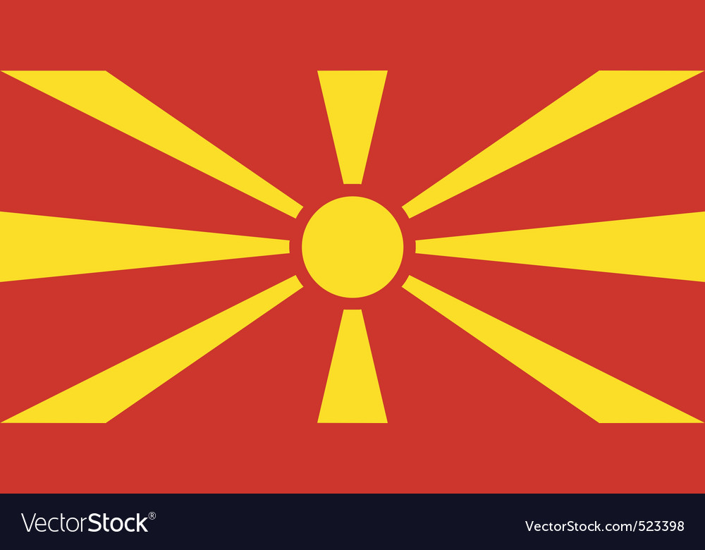 Macedonian flag vector image
