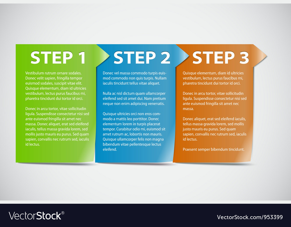 123 step vector image