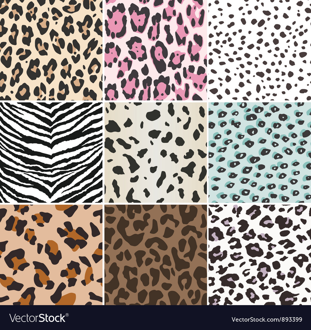 Animal skin repeated pattern vector image