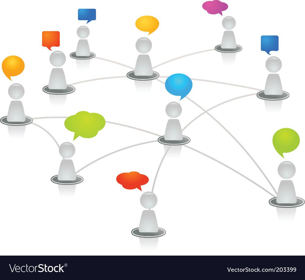 Networking figures vector image