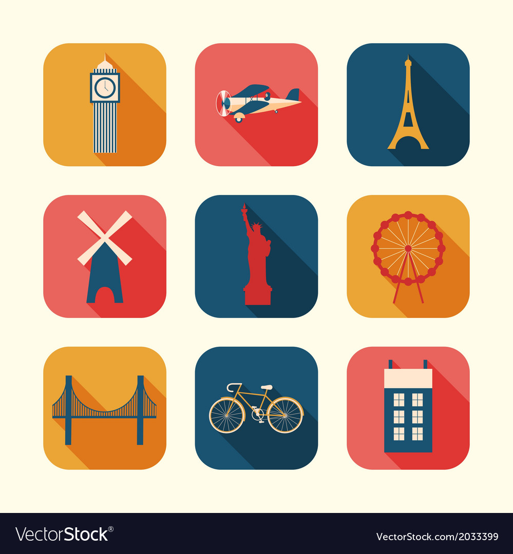 Set of Urban objects vector image