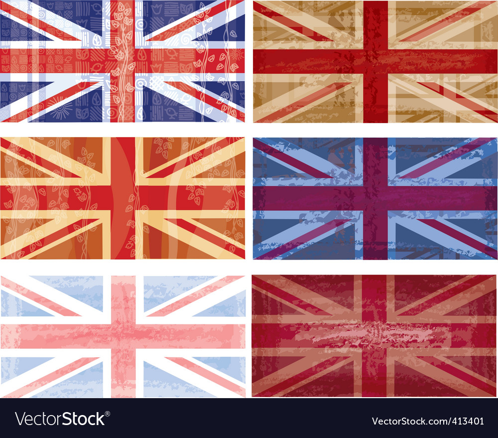 British flag grunge vector Royalty Free Vector Image