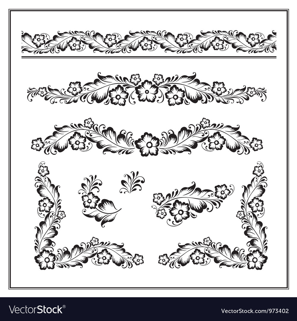 Flower ornament pattern vector image