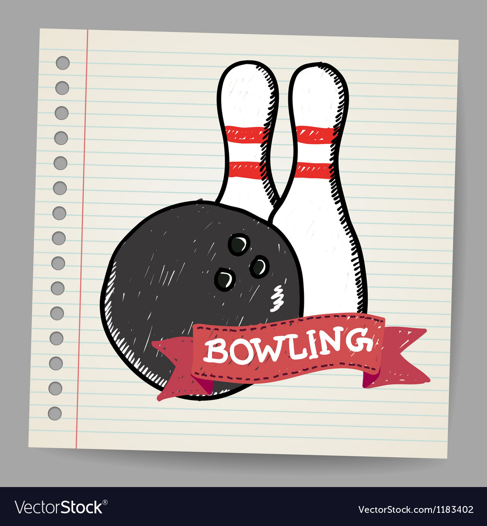 Sketch bowling vector image