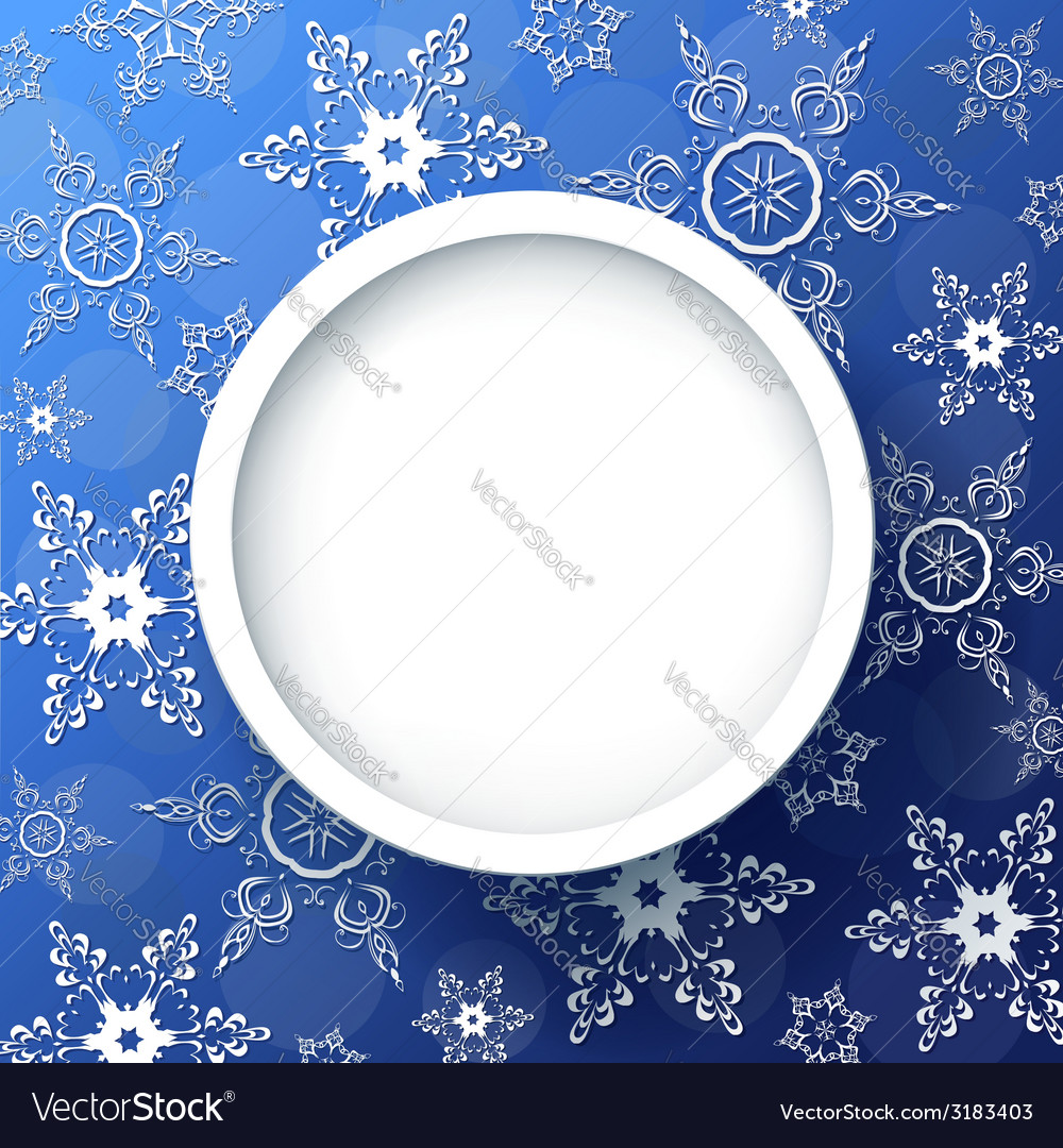 Winter background with decorative snowflakes vector image