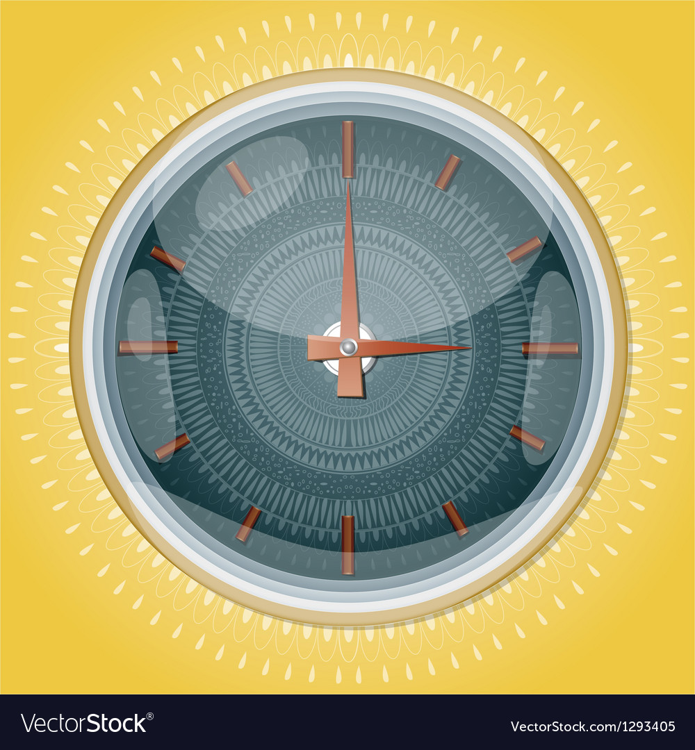 Clocks with pattern vector image