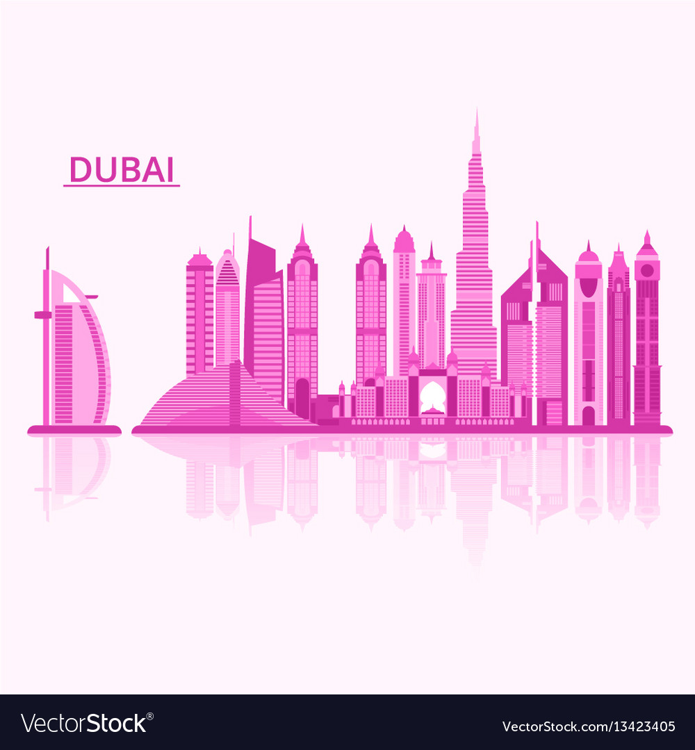 Dubai city vector image