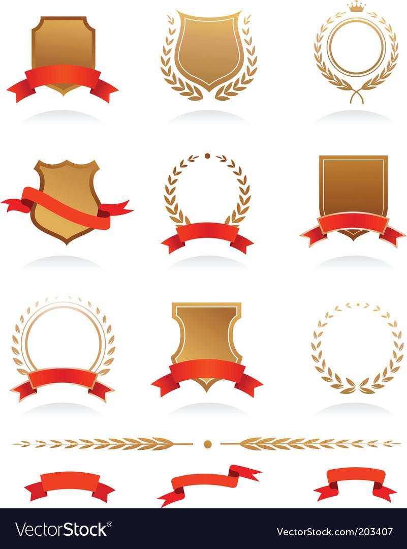 Heraldic wreaths vector image