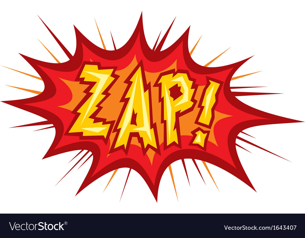 Zap Royalty Free Vector Image