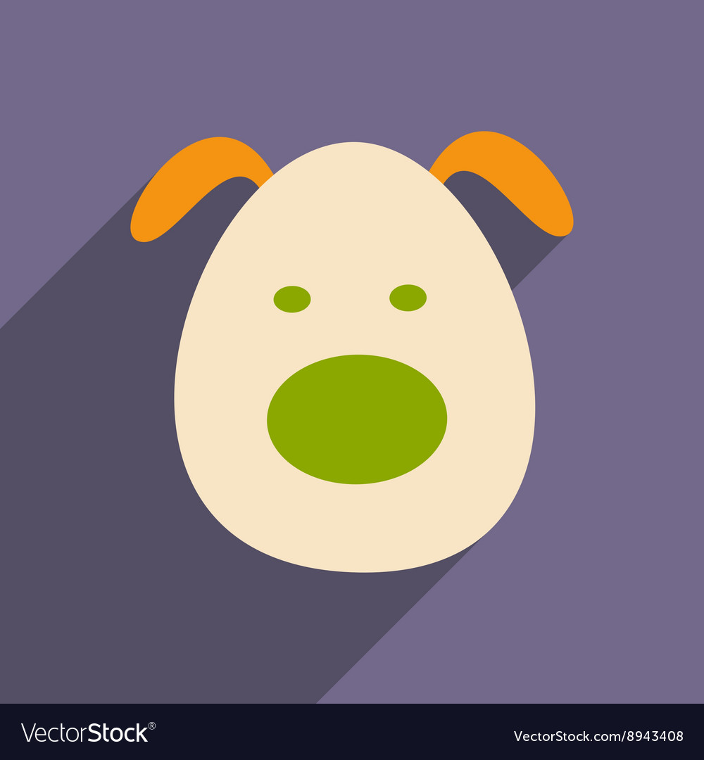 Flat with shadow icon and mobile application dog