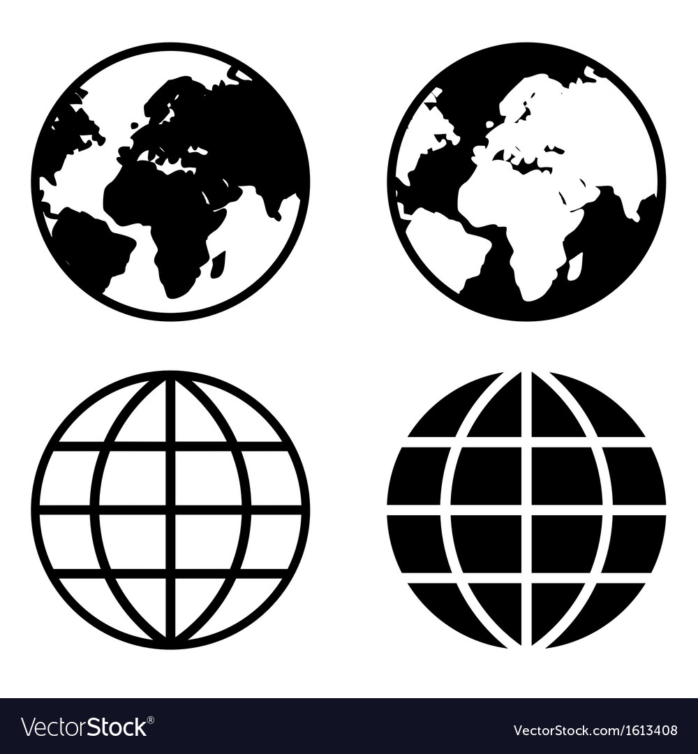 Globe Earth Icons vector image
