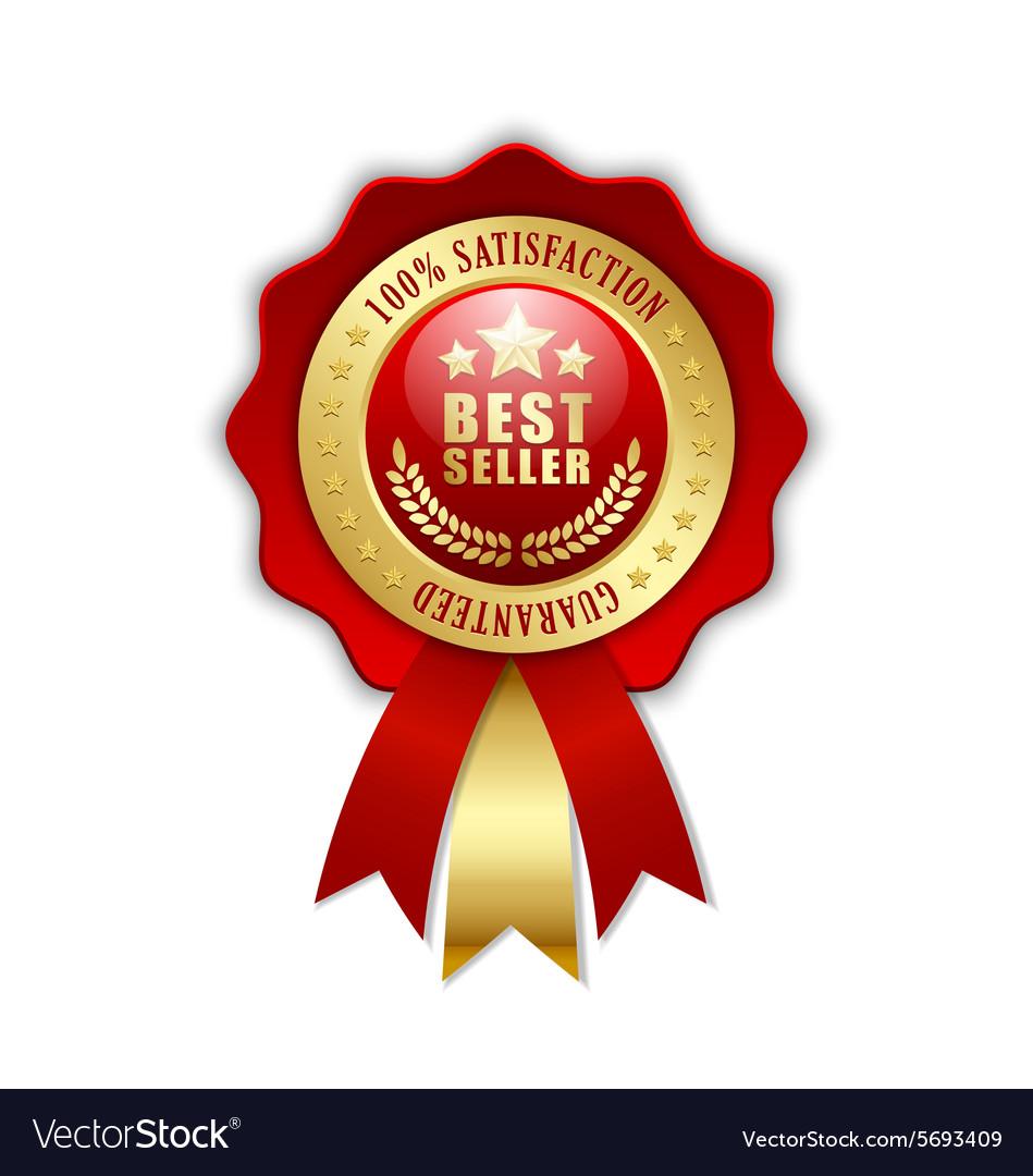 Best seller rosette vector image