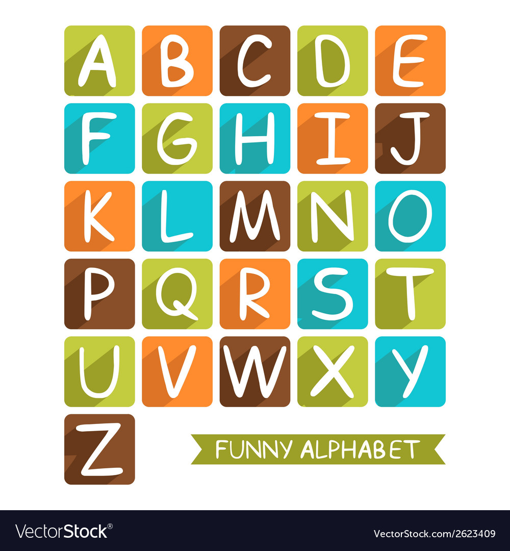 Funny alphabet for children vector image