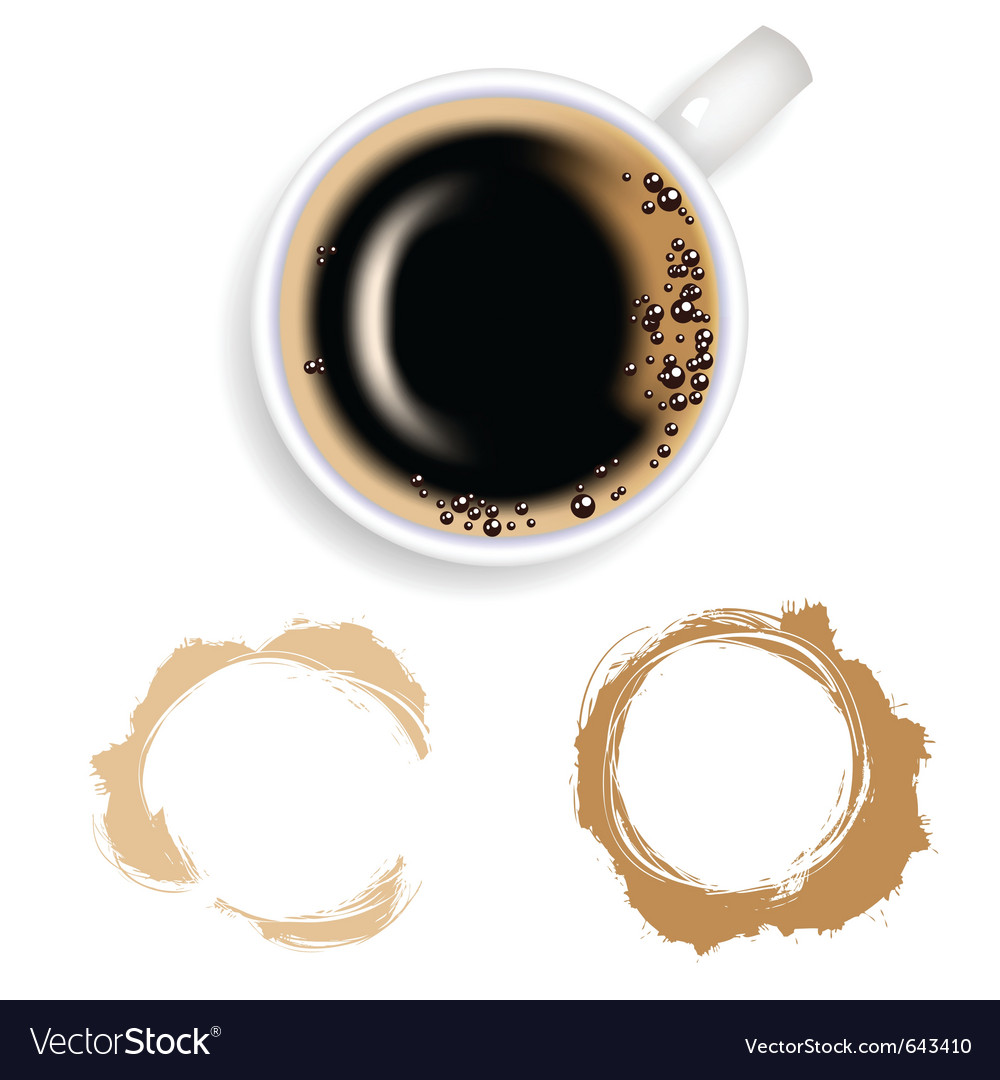 Coffee coffee and stain vector image