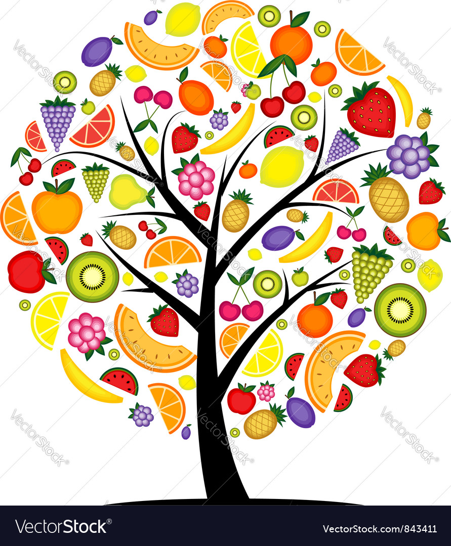 Energy fruit tree for your design vector image