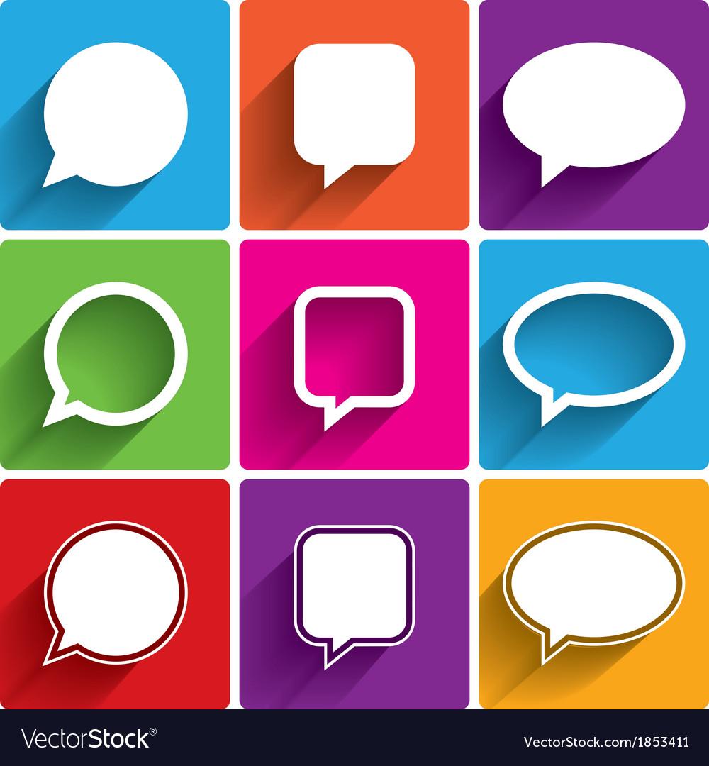 Speech bubble icons think cloud symbols royalty free vector speech bubble icons think cloud symbols vector image biocorpaavc Gallery