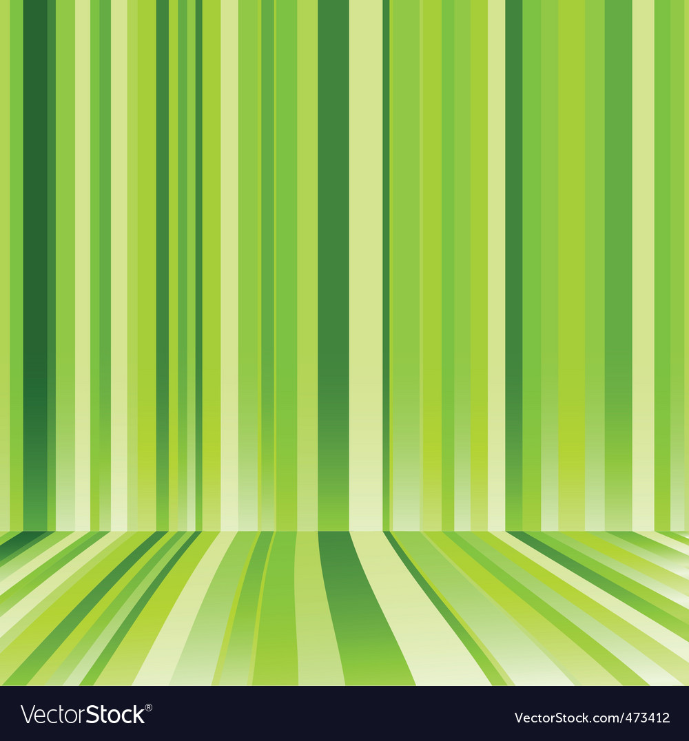 Striped background in green colour vector image