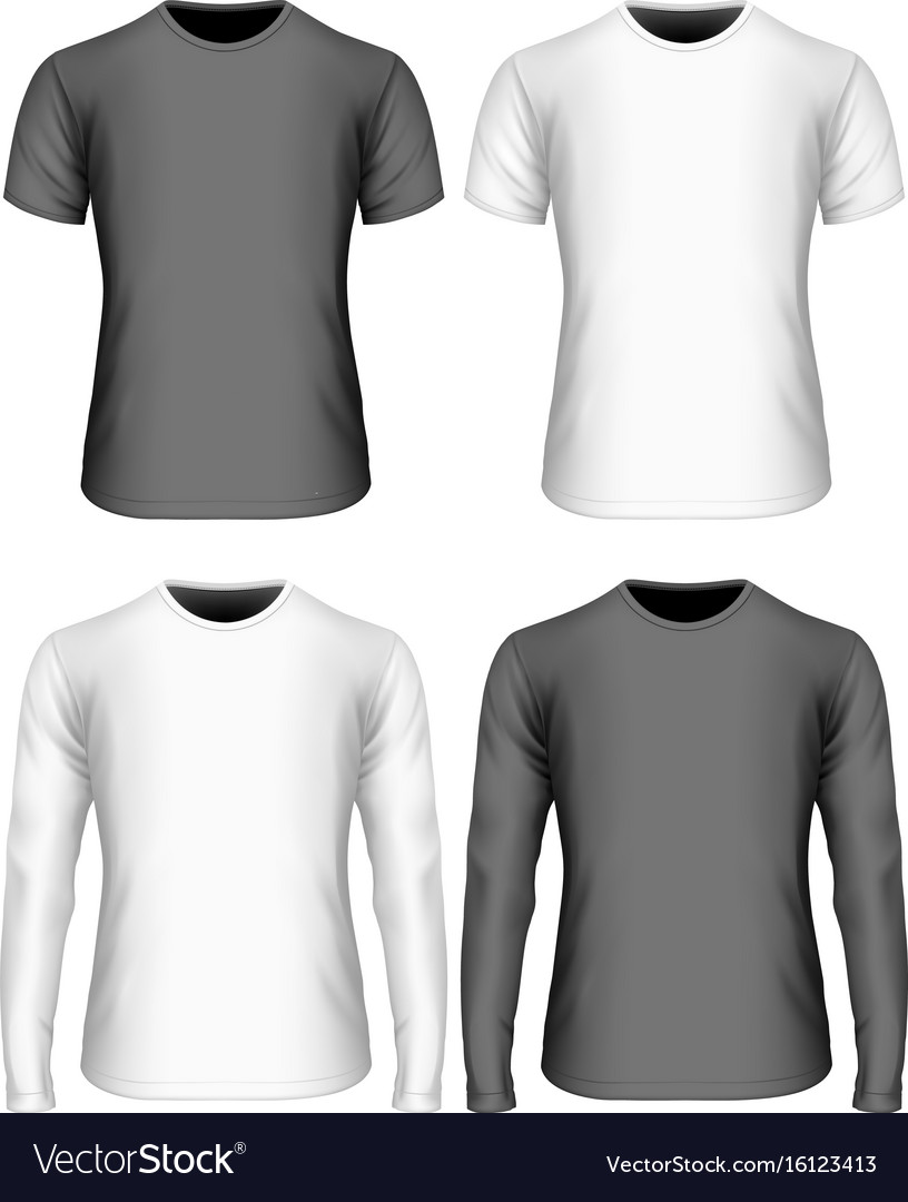 Long-sleeved and short-sleeved vector image