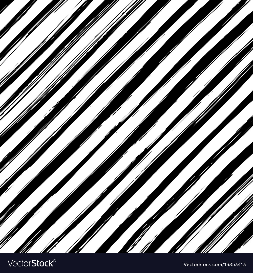 Monochrome striped background vector image