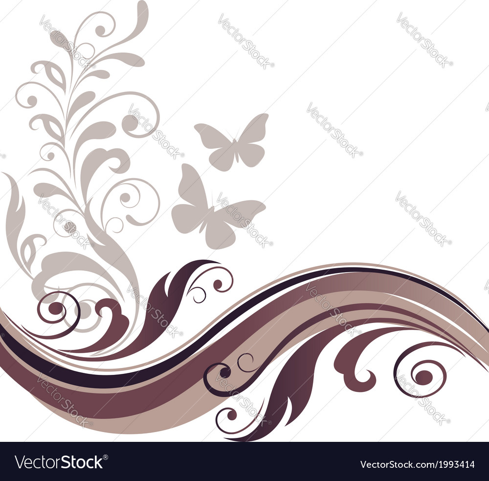 Floral graphic design card vector image