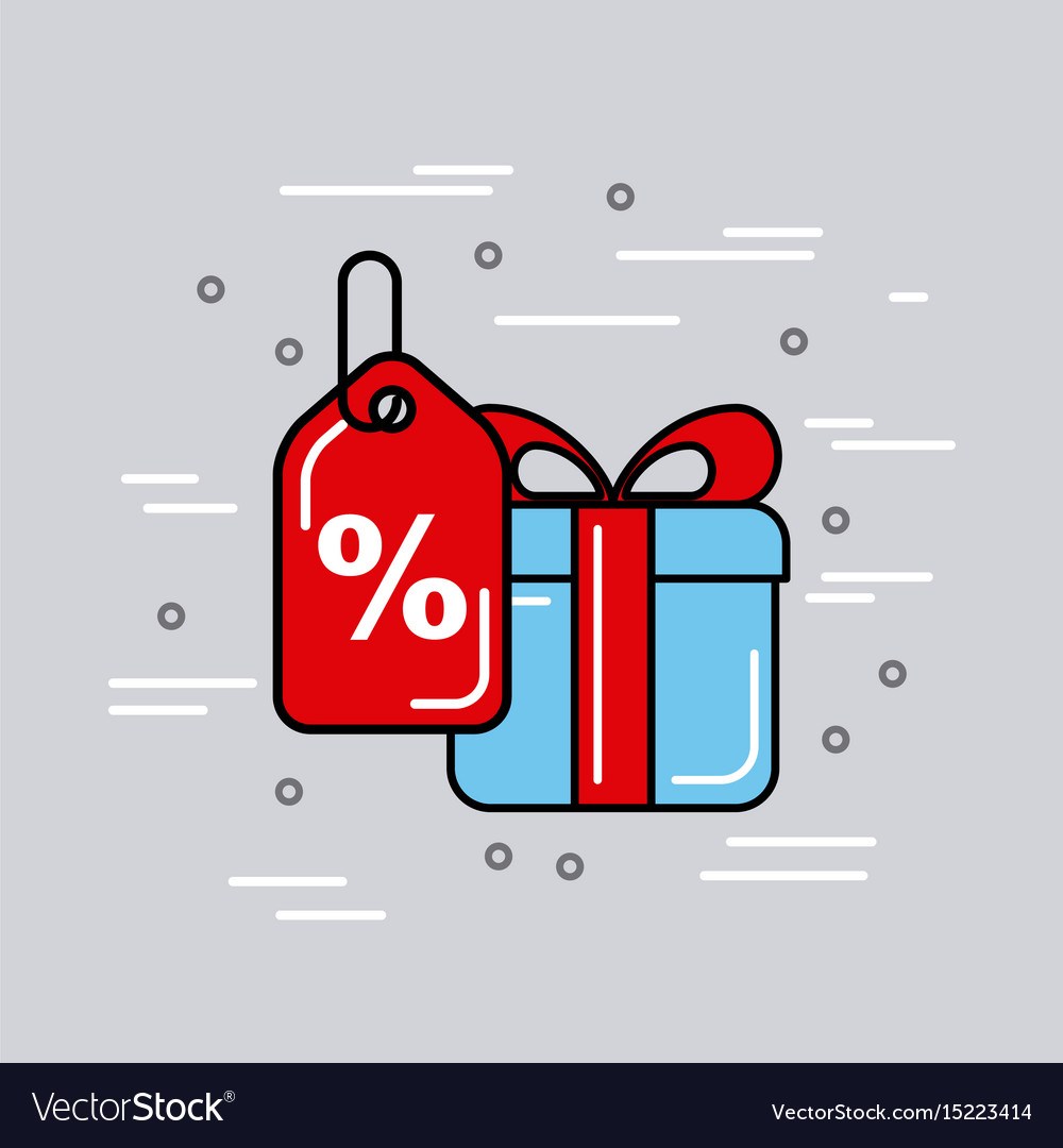 Global logistic gift cartoon vector image