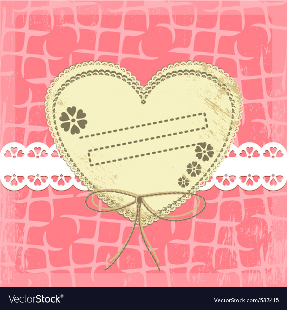 Ornate vintage frame on grange background vector image
