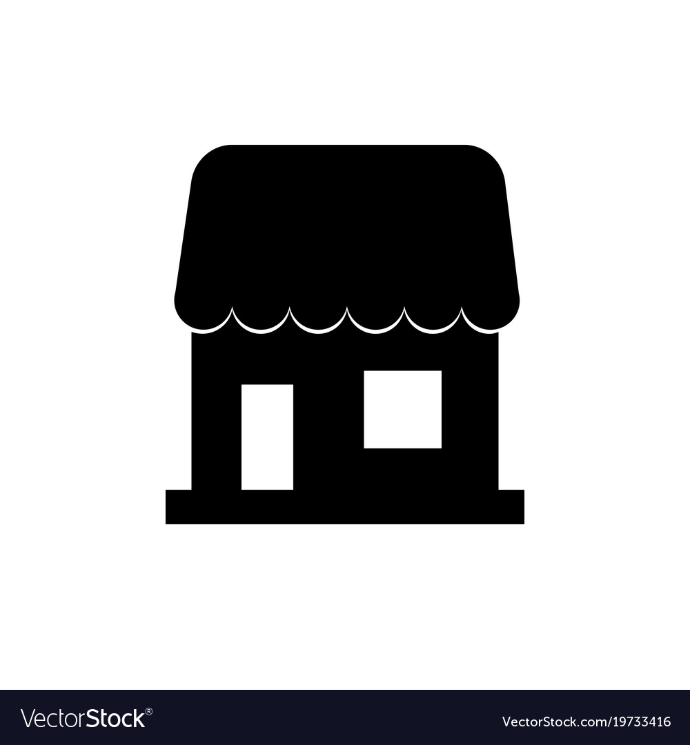 A simple icon to show store seller business sign vector image