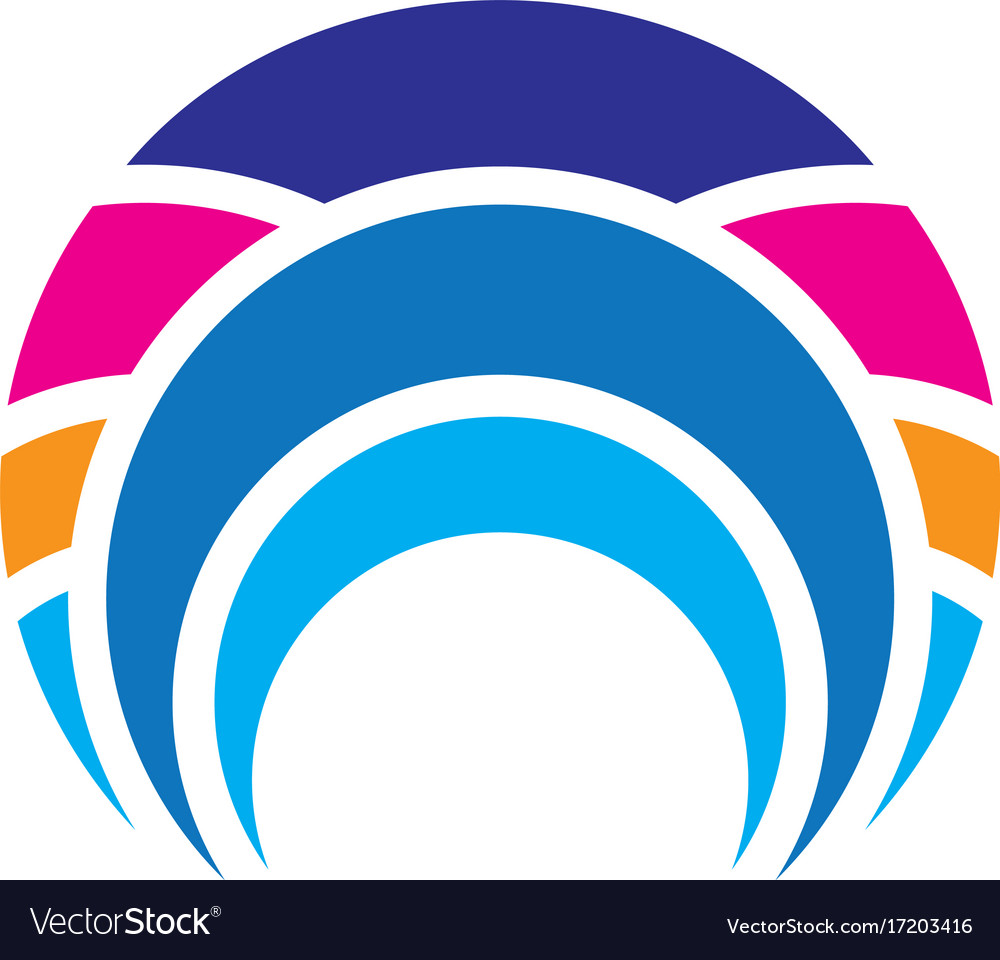 Abstract circle line business logo vector image