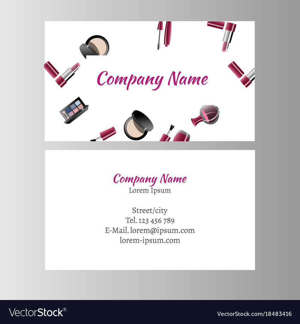 Makeup Artist Business Card Vector Image