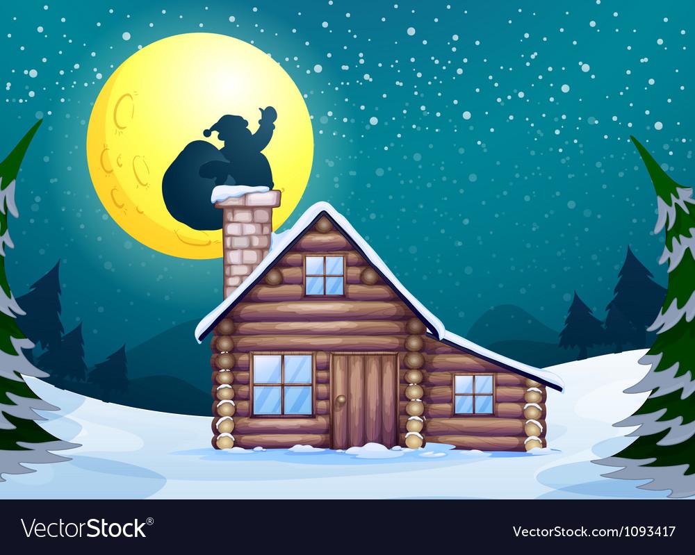 Winter cabin Vector Image