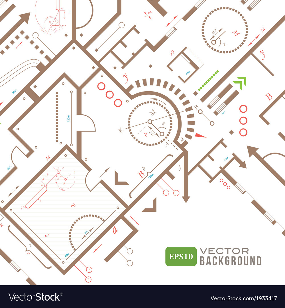 Abstract architectural plan vector image