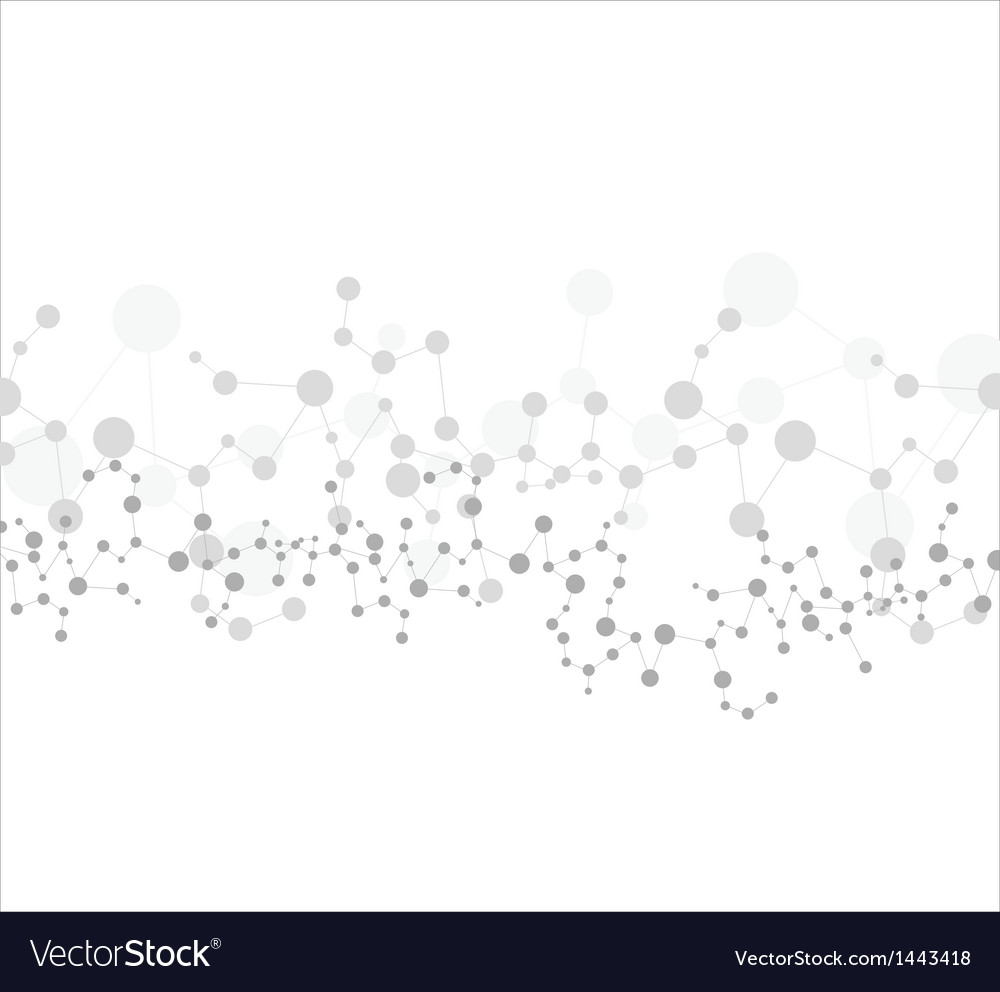Dna molecule abstract vector image