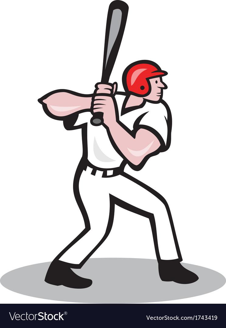 baseball player batting side cartoon royalty free vector rh vectorstock com baseball player vector clipart baseball player vector clipart