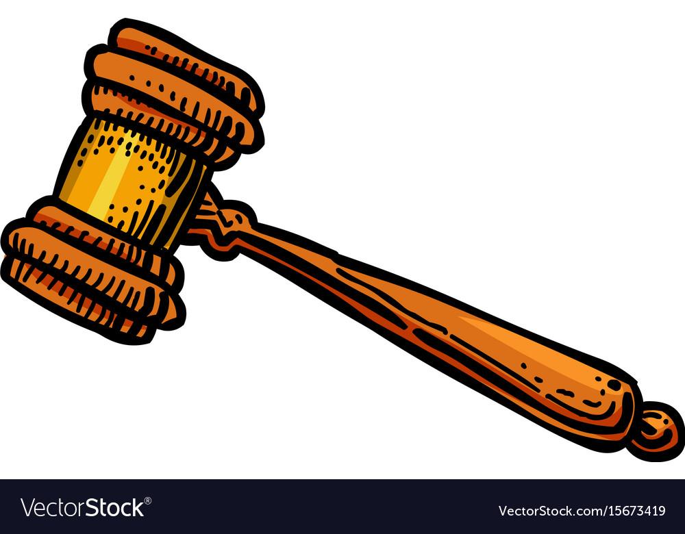 cartoon image of judge gavel icon law symbol vector image rh vectorstock com gavel vector icon judge gavel vector