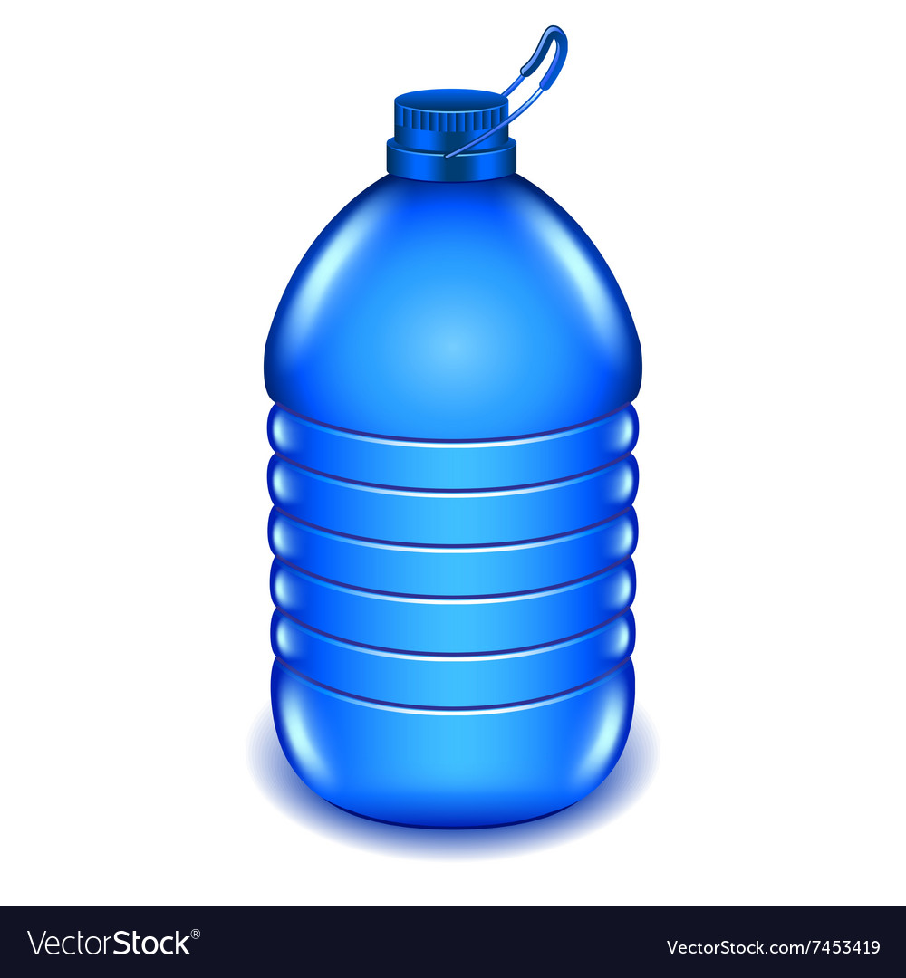 Five liter plastic water bottle isolated on white vector image