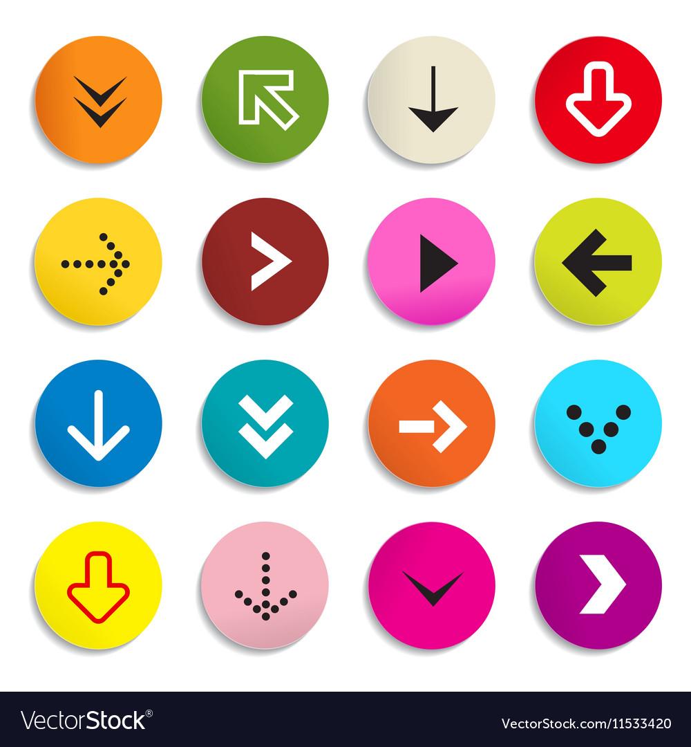 Arrows colorful arrow in circle set of symbols vector image arrows colorful arrow in circle set of symbols vector image buycottarizona