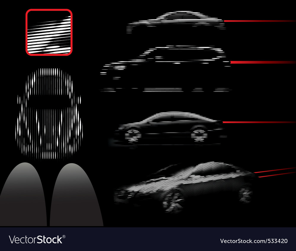 Car lines vector image