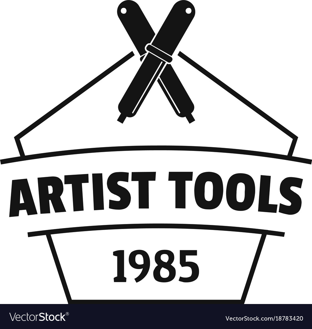 Designer tool logo simple black style vector image