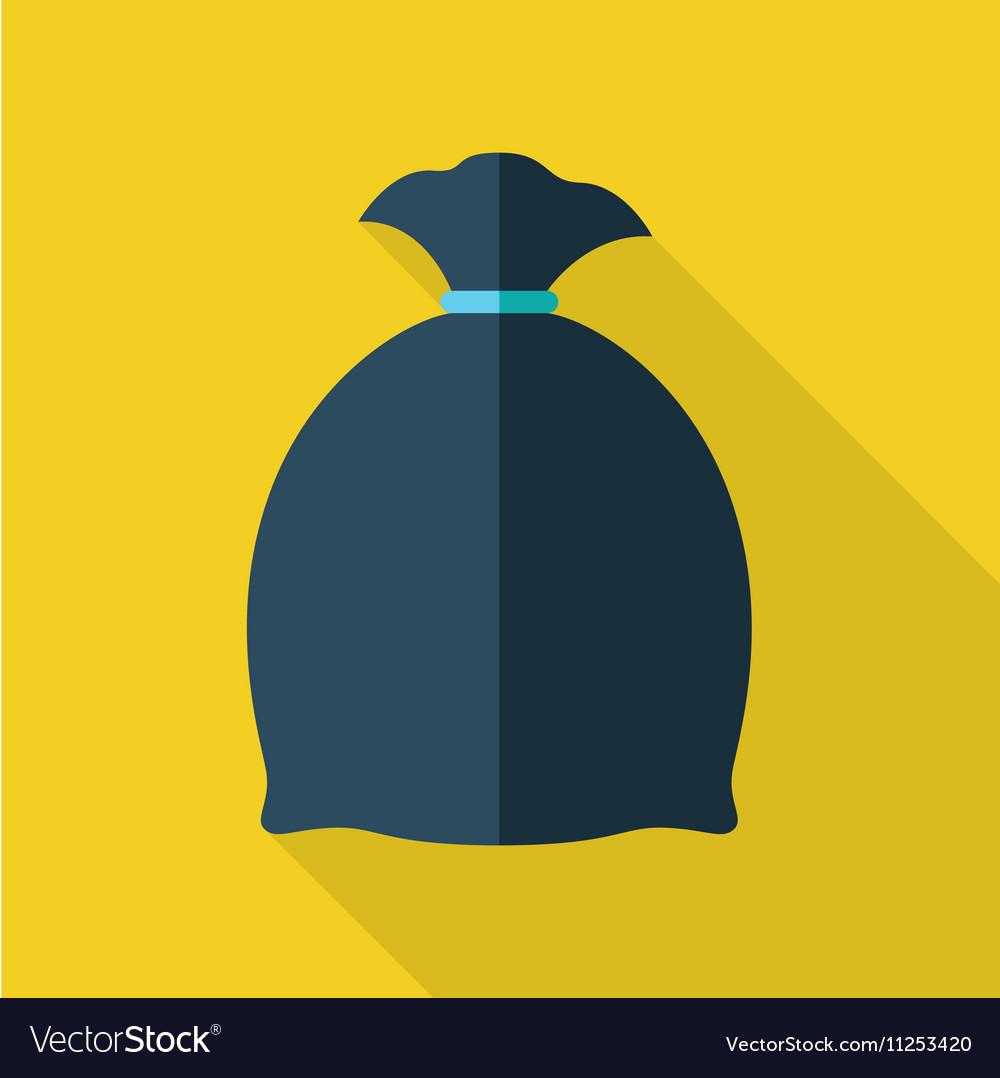 Trash Bag in Flat Design vector image
