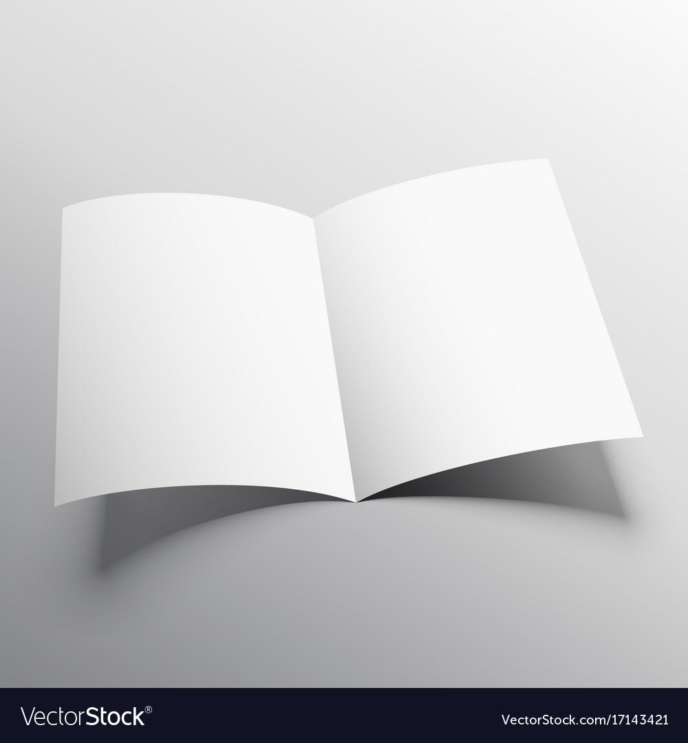 Open Book Or Bifold Brochure Mockup Template Vector Image - Brochure mockup template