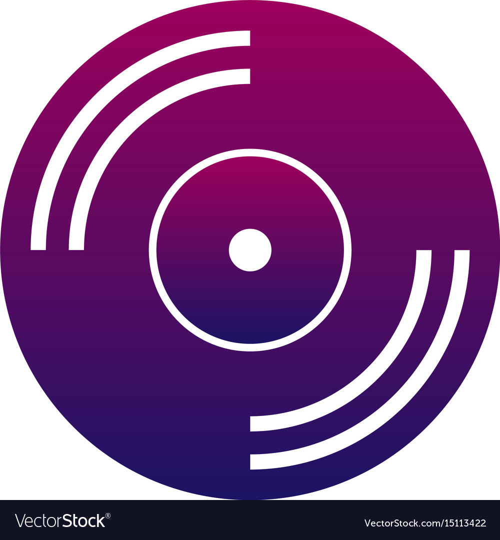 Music icon cd or vinyl music and audio sign vector image